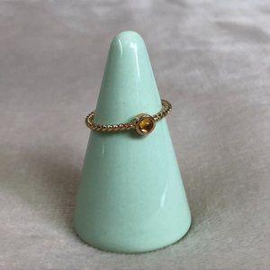 Boohoo Twisted Gold Tone Ring